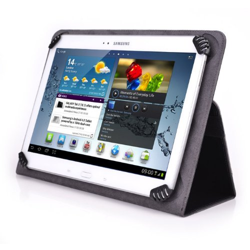 AZPEN G1058 10.1 Inch Tablet Case - UniGrip 10 Edition Folio Case By Cush Cases (Black)
