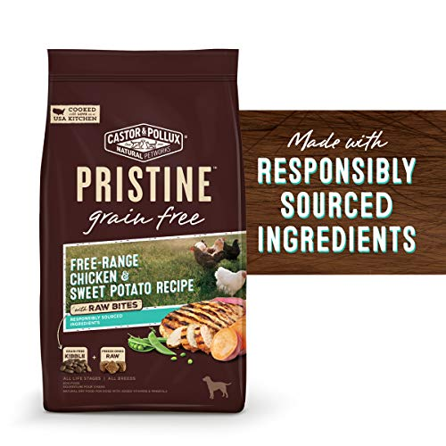Castor & Pollux Pristine Grain Free Free-Range Chicken & Sweet Potato Recipe with Raw Bites Dry Dog Food, 18 lb