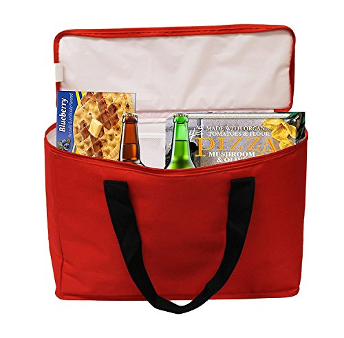 insulated grocery bag tote heavy