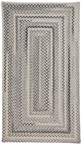 Capel Rugs Tooele Braided Concentric Area Rug, Grey, 11' 4