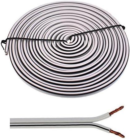 2x2,5mm/² transparent 100/% CCA Cuivre ; Audioc/âble C/âble enceinte 5m