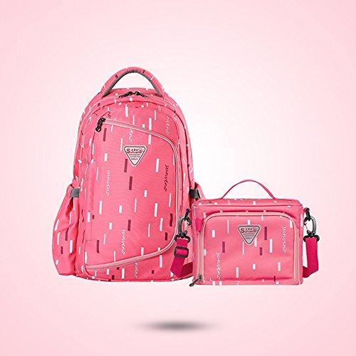 Bolso de la momia, multi-función aumentar la capacidad de la bolsa de hombro, bolsa de la madre de la moda, la madre y el niño mochila ( Color : Rosa Roja ) Rosa Roja