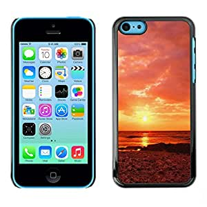 "For Apple iPhone 5C , S-type Sunset Beautiful Nature 63"" - Arte & diseño plástico duro Fundas Cover Cubre Hard Case Cover"