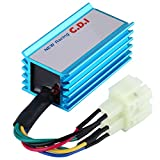 Qiilu 6 Pin Racing CDI with Wire for Most GY6 50-250CC ATV Scooter Moped Go Kart