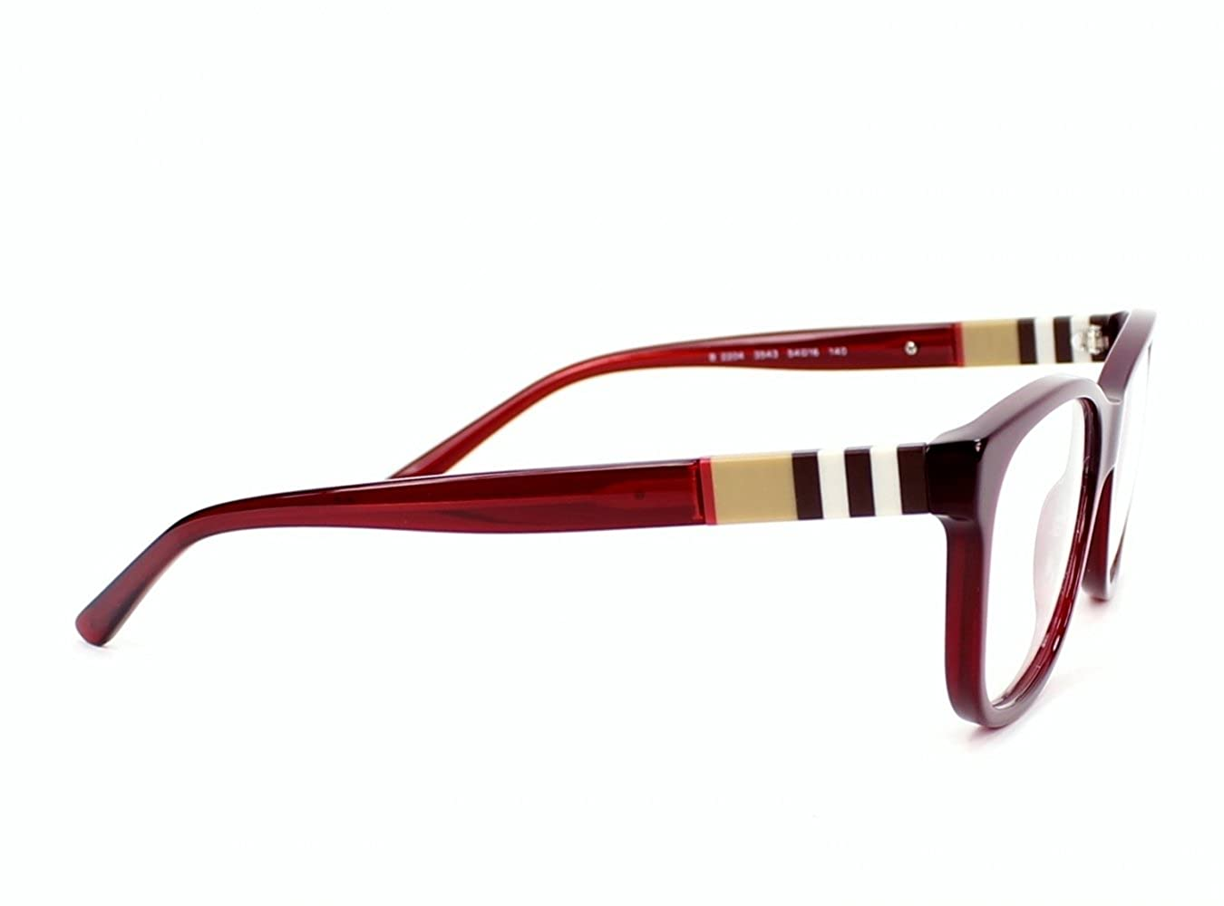 a1970e055232 BURBERRY BE 2204 Eyeglasses 3543 Bordeaux 54-16-140  Amazon.co.uk  Clothing