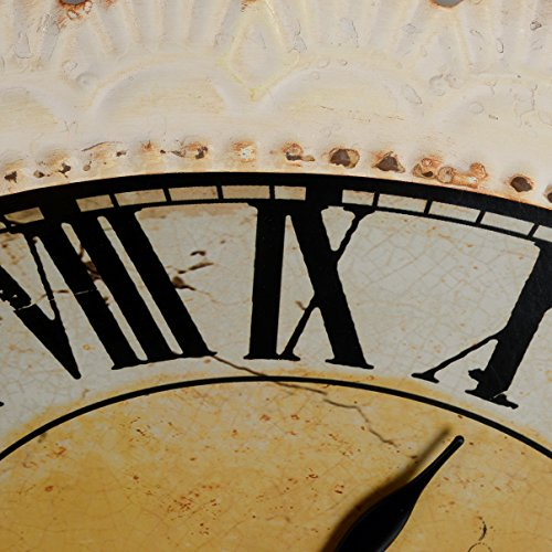 NIKKY HOME Paris Flower Wall Clock, 13-3/8'' x 2-3/4'' x 18-1/8'', Off-White by NIKKY HOME (Image #4)