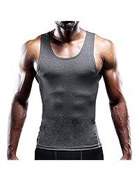 Xiarookp Fashion Men's Round Neck Shirt Sexy Slim Top Printed Sport Sleeveless Tee Shirts Vest Tank