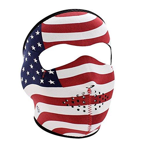 Zanheadgear WNFM003 Neoprene Full Face Mask, Stars and Stripes