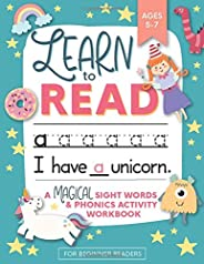 Learn to Read: A Magical Sight Words and Phonics Activity Workbook for Beginning Readers Ages 5-7: Reading Mad