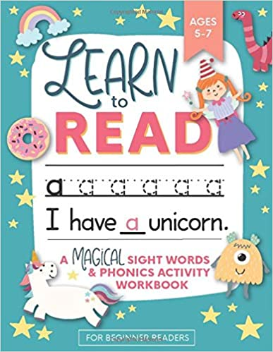 Learn to Read: A Magical Sight Words and Phonics Activity Workbook for Beginning Readers  book for sight words