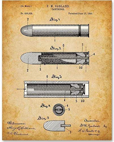 Bullet - 11x14 Unframed Patent Print - Makes a Great Gift Under $15 for Gun Lovers