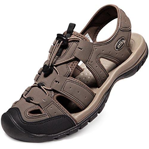 ATIKA AT-M108-CBN_Men 9 D(M) Men's Sports Sandals Trail Outdoor Water Shoes 3Layer Toecap M108 by ATIKA (Image #7)