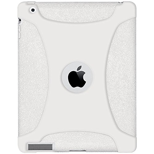 AMZER Silicone Skin Case - for The new iPad & iPad 2 (White)