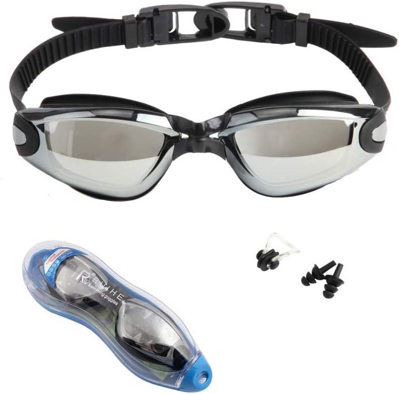 Swimming Goggles Anti Fog UV Protection Waterproof Swim Glasses with Ear Plug UB