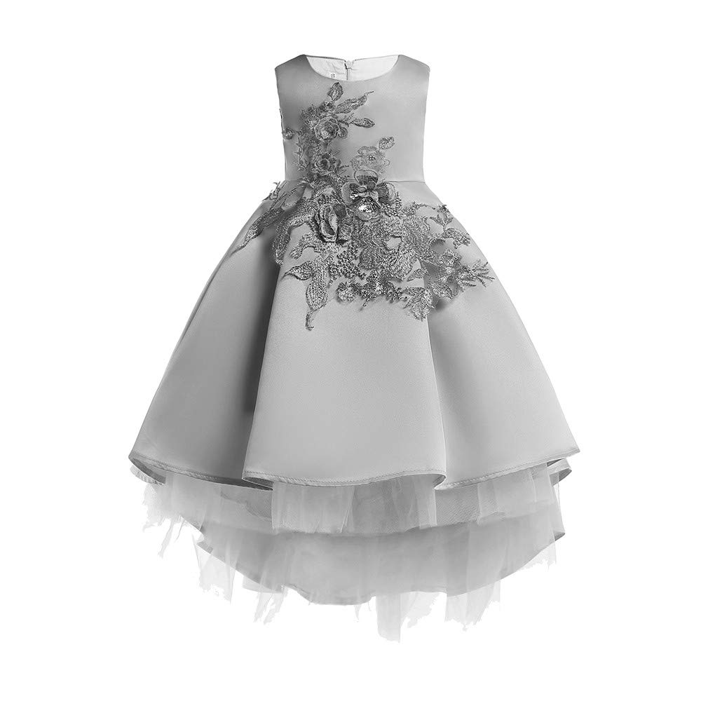 2f90f2e156f 1-7T Baby Girl Floral Lace Princess Tutu Dresses Bridesmaid Pageant Gown  Birthday Party Wedding Dress Gifts  Clothing