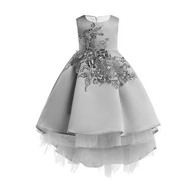 1e05ba5c4 Amazon.com  ❤ Mealeaf ❤ Kids Flowers Girl Princess Bridesmaid ...