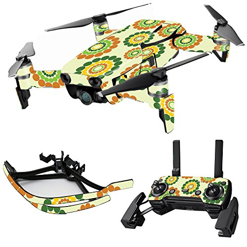 MightySkins Skin for DJI Max Coverage – Hippie Flowers | Protective, Durable, and Unique Vinyl Decal wrap Cover | Easy to Apply, Remove, and Change Styles | Made in The USA Review