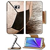 Liili Premium Samsung Galaxy Note 5 Flip Pu Leather Wallet Case Old Soccer football on old vintage wood table 28605127