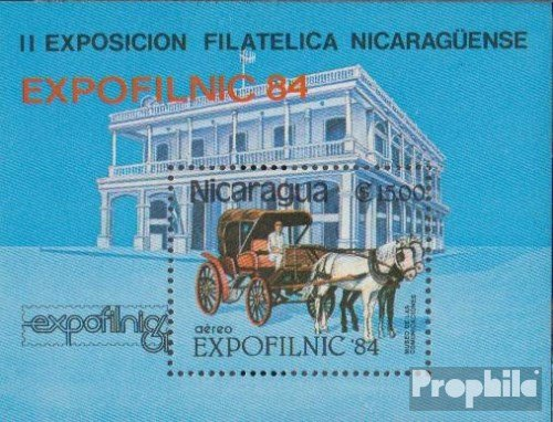 Nicaragua block160 (Complete.Issue.) 1984 EXPOFILNIC `84 (Stamps for Collectors) Horses