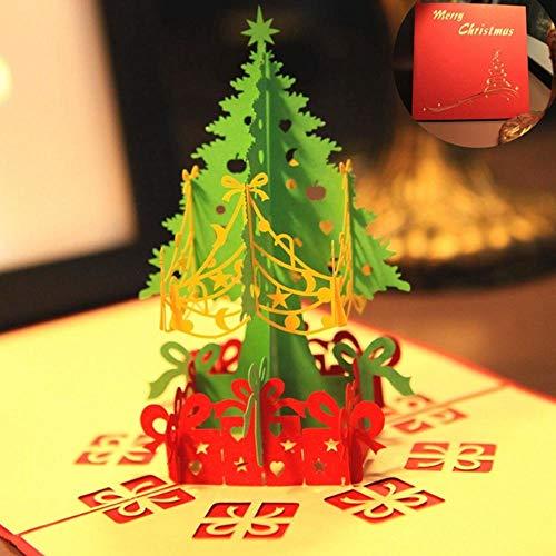 Antaram Cards Invitations - 3d Merry Christmas Tree Greeting Cards Vintage Message Thanksgiving Postcards Birthday Gifts - Christmas Handmade Xmas 3d Card Holiday Cute Postcard White Menu