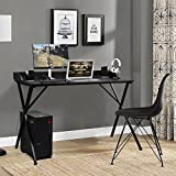 Aingoo Large Writing Computer Desk Study Table 47'' Simplified Black Workstation For Home Office Modern
