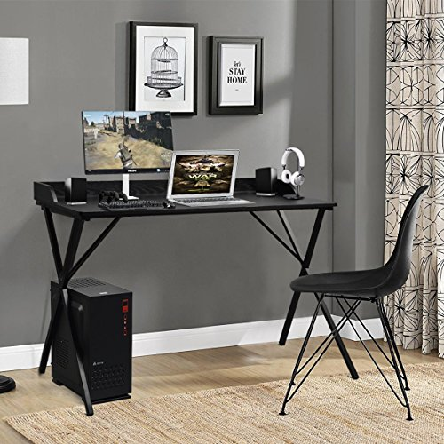 Aingoo Large Writing Computer Desk Study Table 47'' Simplified Black Workstation Home Office Modern by Aingoo