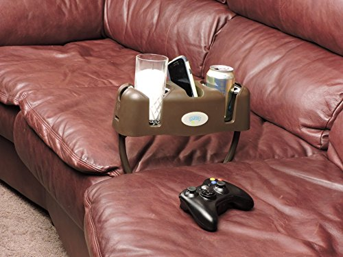Cupsy Sofa and Couch Armchair Drink Organizer and Recliner Drink Caddy with Removable Legs – Multiple Colors