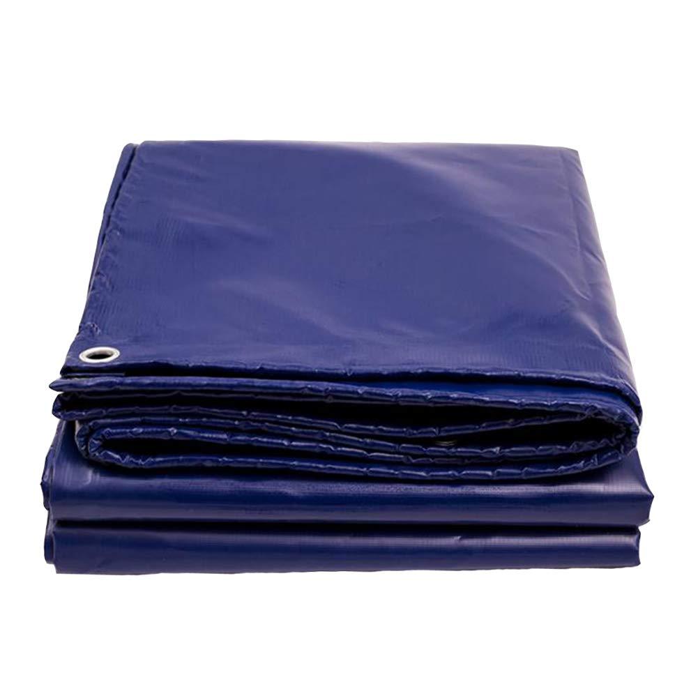 Dall telone Tarp Impermeabile Cover Protettiva Multifunzione Protezione Solare Spesso 0.48mm (colore   Blu, Dimensioni   2  2m)