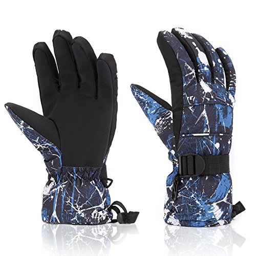 FengNiao Ski Gloves Touchscreen Winter Waterproof Thermal Gloves Men Women Cold Weather Insulated Snow Gloves Outdoor Breathable Skiing Snowboarding Skating Shoveling Gloves