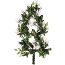"""40"""" Mixed Pine/Magnolia Leaf/Pine Cone Christmas Tree Wreath Green Brown (pack of 1)"""