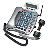 ClearSound Emergency Phone with 2 Wrist Emergency Transmitters (Up to 50DB+ Amplification)