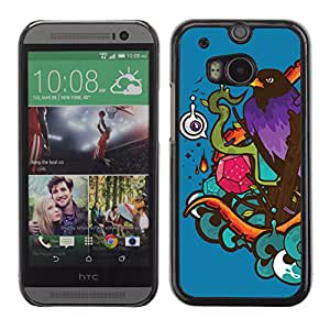 CaseLord Carcasa Funda Case - HTC One M8 / Cool Colorful Pattern /