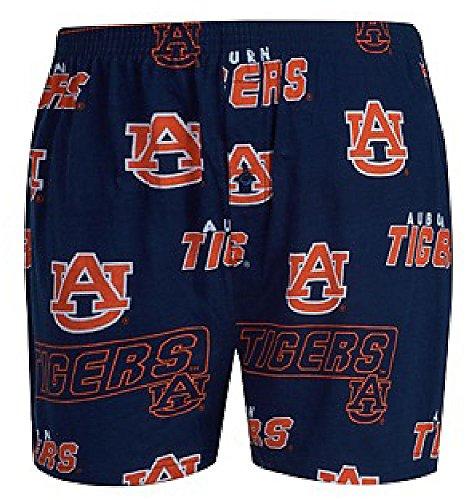 Auburn Tigers Mens Blue AOP Cotton Slide Boxer Shorts - Auburn Boxer