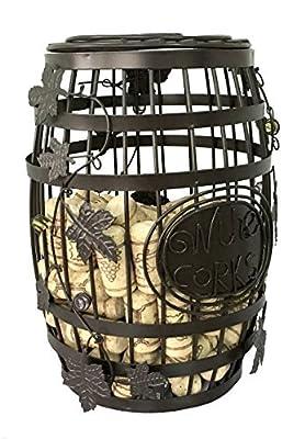 ESK Collection Wine Barrel Cork Storage Cage