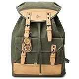 BUG Canvas Vegetable Leather Backpack Eco-Friendly laptop bag