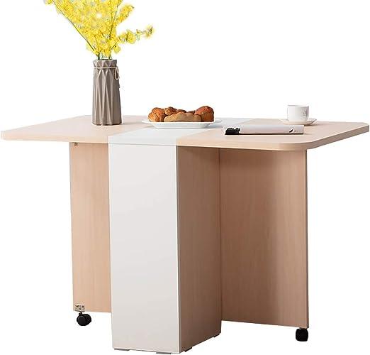 DIOE Mesa de comedor plegable, mesa multifunción extensible de ...