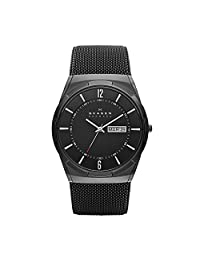 Skagen Men's Quartz Watch with Black Dial Analogue Display and Black Stainless Steel Strap SKW6006
