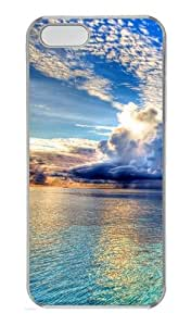 Rain clouds over the sea Custom PC Hard Case Cover for iPhone 5S and iPhone 5 - Transparent