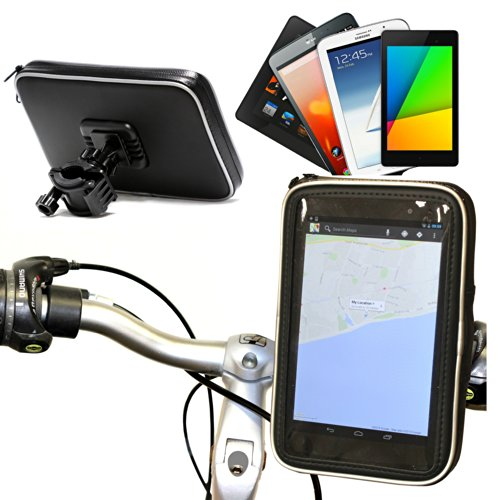 Navitech Cycle/Bike/Bicycle Waterproof Holder Mount & Case Compatible with The 7 Inch Tablets Including The Samsung Galaxy Tab 4 7.0 / Samsung Galaxy Tab 3 7.0 / Lite/Samsung Galaxy Tab 2 7.0 (Samsung Cased 3 Tab Galaxy)