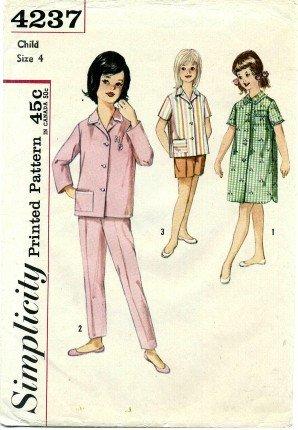 Amazon Simplicity 4237 Sewing Pattern Girls Pajamas