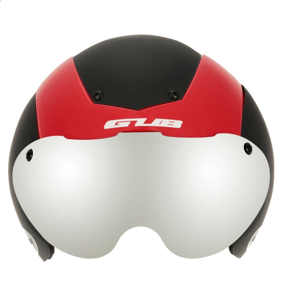 Unisex Cycling Helmet Ultralight Integrally-molded 13 Vents Bicycle Helmet Bike Skating 2 in 1 Helmet with Goggles - Black