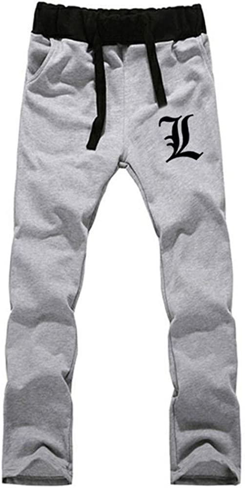 Gumstyle Death Note Anime Sweatpants Jogger Elastic Waist Pants Sport Trousers