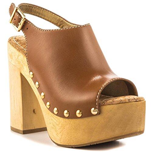 YDN Women Peep Toe Platform Pumps Slingback Thick Heel Ankle Strap Sandals Full Size