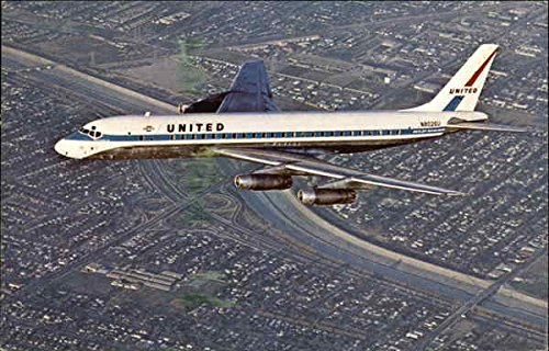 United Air Lines DC-8 Aircraft Original Vintage - United Airlines Dc