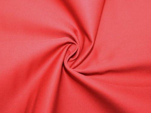 Tela de algodón de Sarga (Rojo, Metro: Amazon.es: Hogar