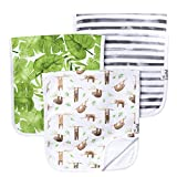 "Copper Pearl Baby Burp Cloth Large 21''x10'' Size Premium Absorbent Triple Layer 3 Pack Gift Set""Noah"" by Copper Pearl"