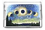 Solar Eclipse 2017 - Starry Night (Acrylic Serving Tray)