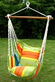 This hammock is made of cotton and polyester fabric for maximum comfort. The included 40-inch hardwood spreader bar keeps this hammock sturdy and able to withstand up to 265 lbs. Hammock comes with two seat cushions that provide you extra comfort and...