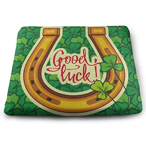 Ladninag Seat Cushion Vintage Good Luck Clover Chair Cushion Designer Offices Butt Chair Pads for Indoor