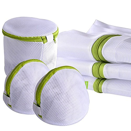Bazzano 6pcs Laundry Bag Clothes Bra Underwear Portable Mesh